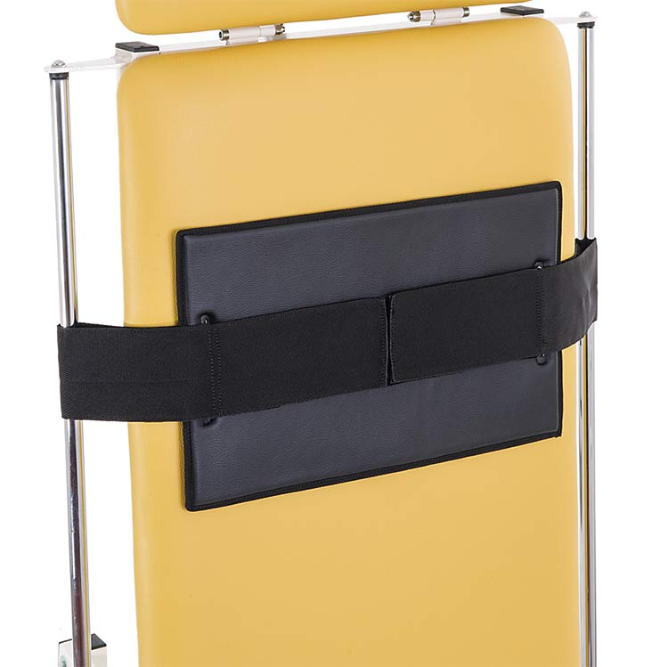Padded patient restraint for Tilt series tables
