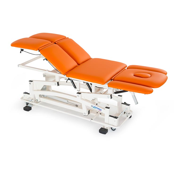 Iride couch Professional Series for treatment and examination legs movement