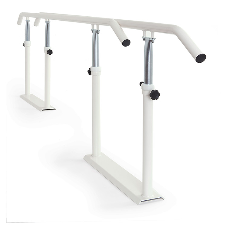 Foldable parallel bars with metal handrail - folded