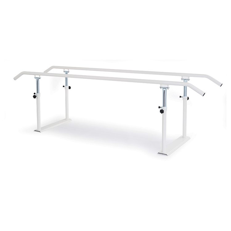 Foldable parallel bars with metal handrail