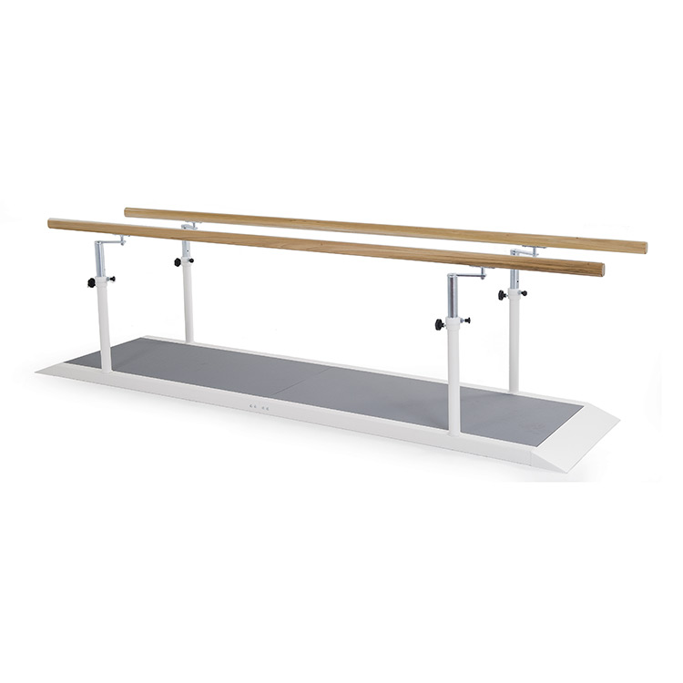 3 metres parallel bars with wooden handrail