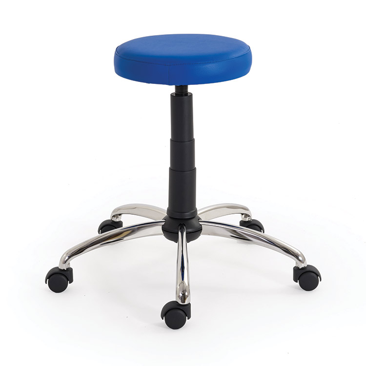 Revolving Chrome-Plated Stool