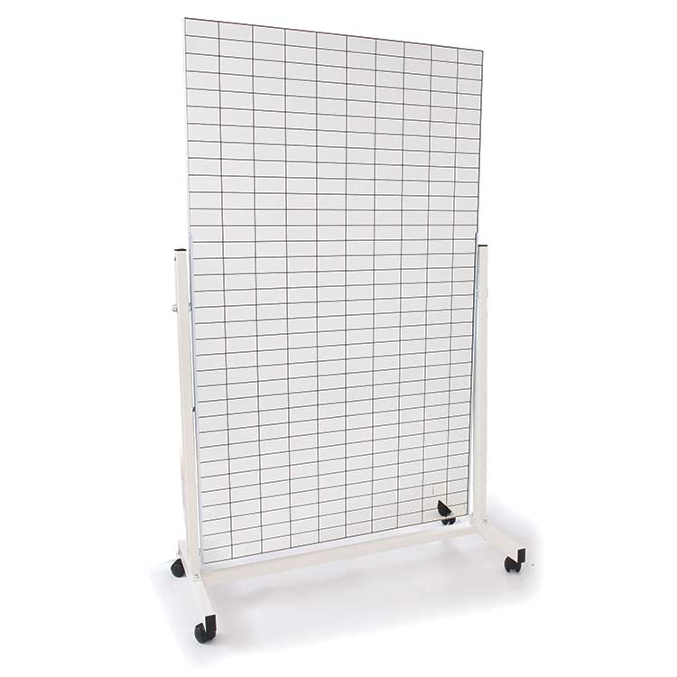 Grid mirror with trolley