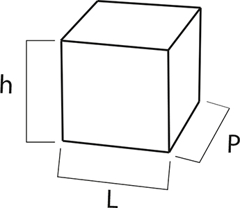 Technical drawing cubes